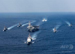 【北朝鮮情勢】米空母打撃群が朝鮮半島へ 空母カール・ビンソンなど=先制攻撃か