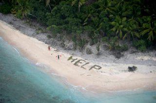 【ファナディック島】無人島の砂浜に「HELP」…3日ぶり救助 三沢基地所属の米軍機発見