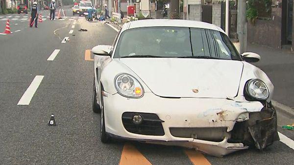 【横浜ひき逃げ】原付バイクの59歳男性死亡 現場に白いポルシェ乗り捨て=飲酒運転か