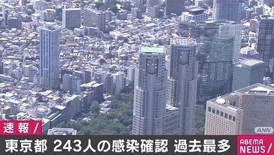 【コロナ速報】東京都、新規感染者243人 過去最多記録更新 「GoToキャンペーン」や「イベント緩和」は予定通りか…