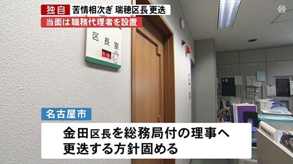 【名古屋判定】恐喝未遂の瑞穂区長不起訴 苦情相次ぎ更迭=逮捕後も在任