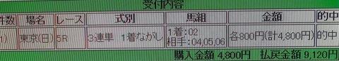 東京5R的中馬券