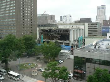 札幌市民会館解体工事