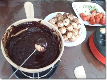 チョコレートフォンデュー