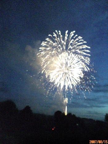 三笠の花火