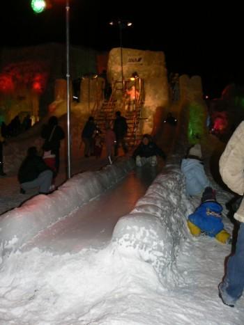 支笏湖氷濤祭会場の氷の滑り台
