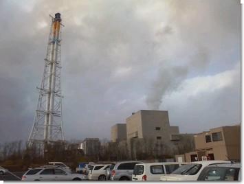 伊達火力発電所の全景