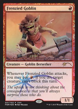 【MTG】2015年1月度のFNMプロモーションカードが公開に エキスパンション『基本セット2015』より、斧を持ち荒々しく吠え猛る《激情のゴブリン》が登場
