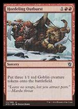 【KTK】海外サイト「MythicSpoiler」にて『タルキール覇王譚』収録カード画像が公開 ゴブリンを3体出す赤の3マナソーサリーと赤の速攻持ち1マナ果敢生物