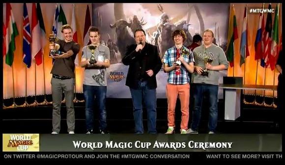 【MTG】国別対抗戦ワールドマジックカップ2014、優勝はEnevoldsen選手・Nielsen選手・Birch選手・Müller選手のデンマーク代表チームに