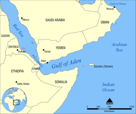 アデン周囲地図