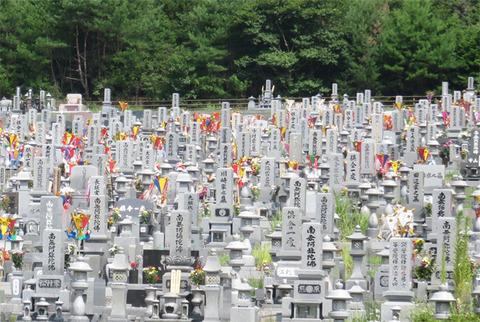 8月15日墓参り1
