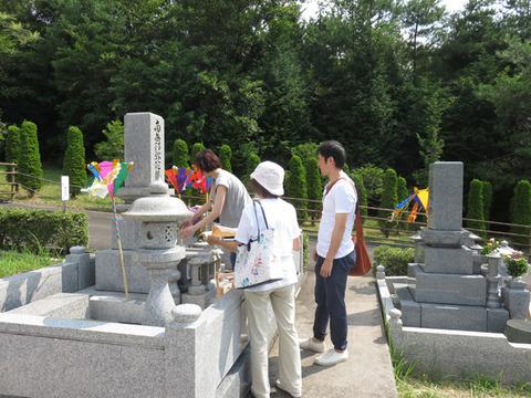 8月15日墓参り3
