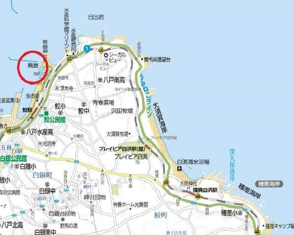 蕪島〜種差海岸