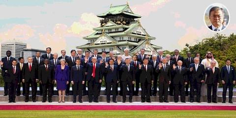 G20首脳の集合写真、結局こうなる
