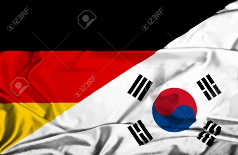 s-36593400-Waving-flag-of-South-Korea-and-Germany-Stock-Photo