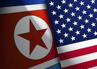 North-Korea-and-US-Flag