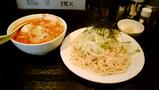 赤梵天 つけ麺 ニンニク 野菜大盛り