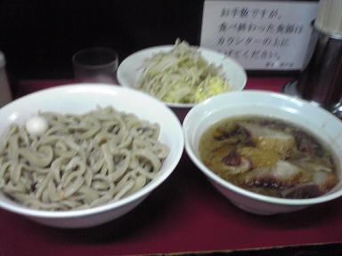 エビ豚入りつけ麺