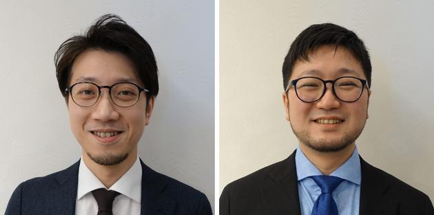 ジオコード、新任部長の栗原勇一(左)と渡辺友馬(右)