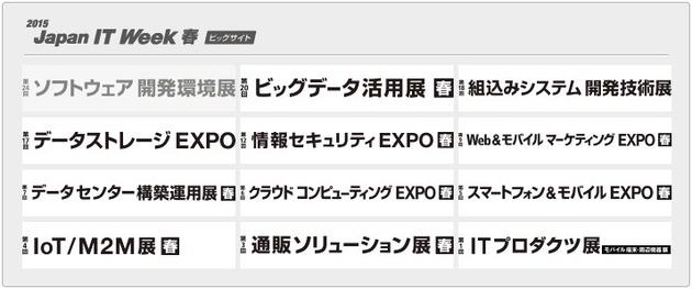 「通販ソリューション展」や「クラウドコンピューティングEXPO」など様々なジャンルの展示会(EXPO)が同時開催中