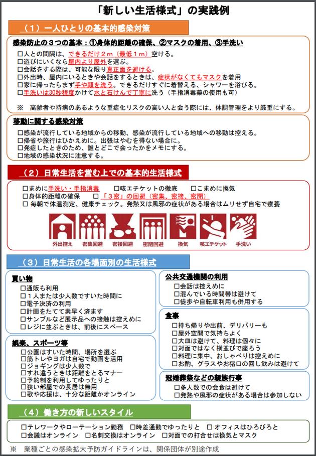 「新しい生活様式」の実践例|厚生労働省