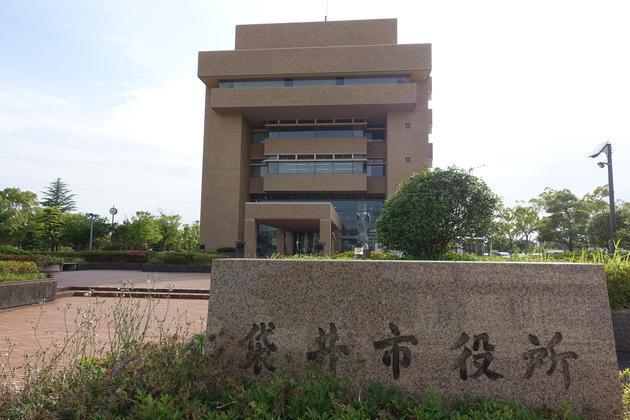 記者会見の会場は袋井市役所