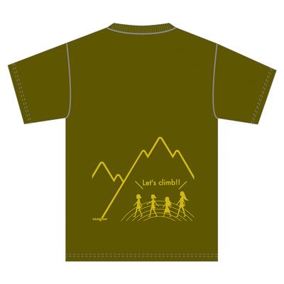 能市スタンプラリードライメッシュTシャツ オリーブ