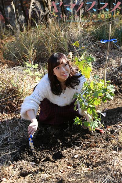 【ヤマノススメ】20171124_植樹式山本さん