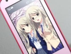 楠姉妹_ケータイ電話の写真
