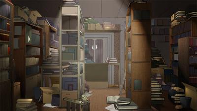 背景CG_古書店『くるぶし』のコピー
