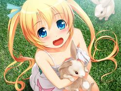 ミラ_ウサギ抱き