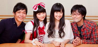 左から)砂山けーたろー、上坂すみれ、三澤紗千香、鷲崎健