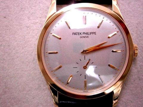 パテック 5196R-001ローズゴールド 130万