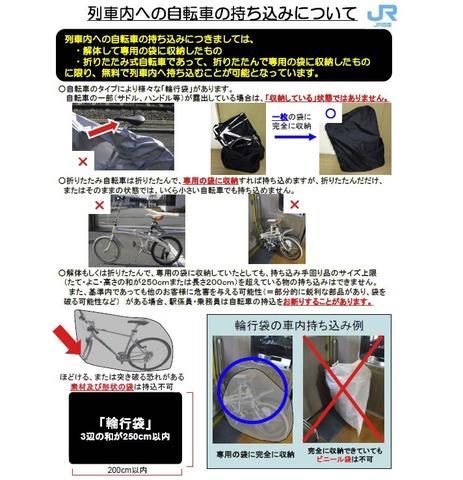 JR四国 輪行の手引き