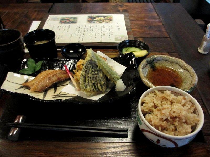 自転車の 自転車 千葉ニュータウン : 焼き魚(ほっけ)、野菜天ぷら ...