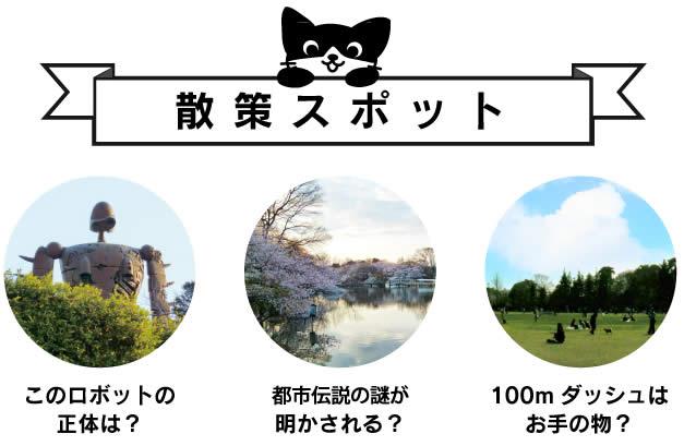 井の頭公園散策マップ 散策スポット紹介