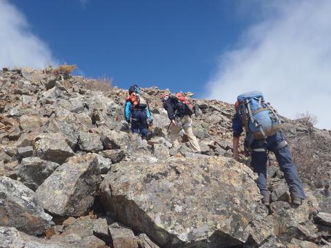 第二高点までの登り