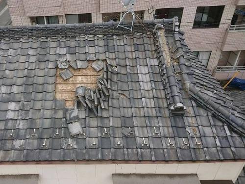 風水害瓦屋根
