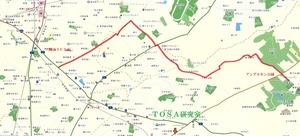 ふなばしアンデルセン公園抜道マップ(三郷南IC)