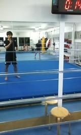 キックボクシングジム(リング上)