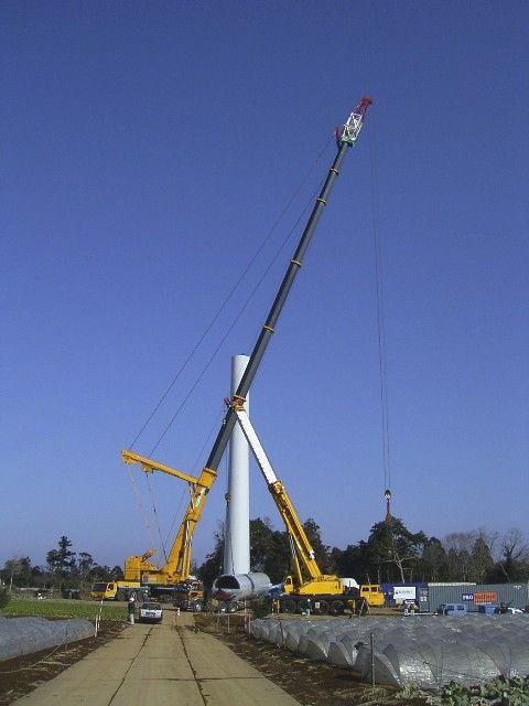 風力発電建設中
