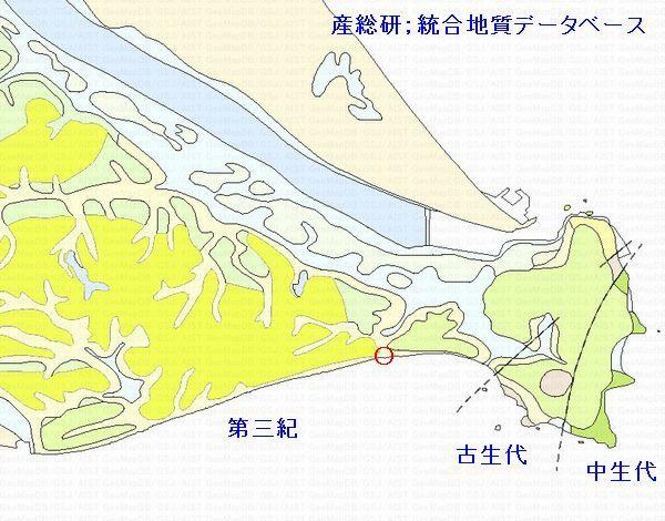 地質図屏風ヶ浦