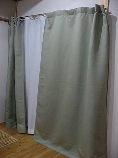 s-二重のカーテンで保温