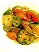 グリル野菜のパスタ