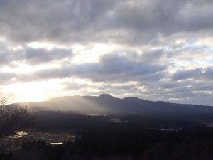 12月初日の寒風山からお山を眺めるの図