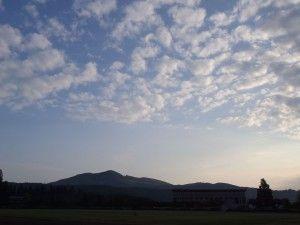2012-08-31 早朝ライド 男鹿市運動公園から寒風山を望んで~