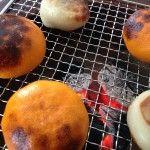 火鉢を使って焼きミカン