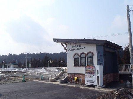 羽立駅も新しく小さくなりました!小さくって、いいね!