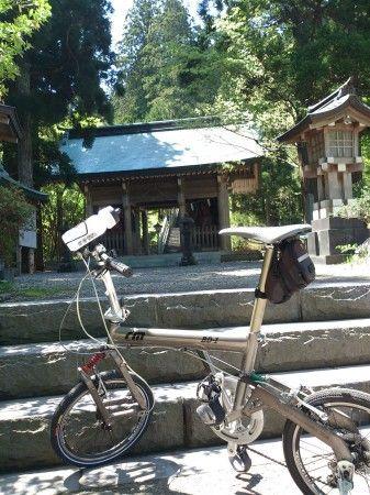 今日は、男鹿半島に自転車文化が根付く最初の一葉だったかも